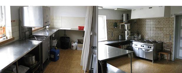 Fuldt udstyret køkken med service til 150 personer