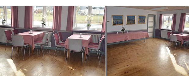 Lille sal med plads til 35 personer